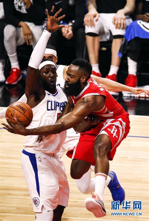 (体育)(1)篮球——NBA常规赛:火箭胜快船