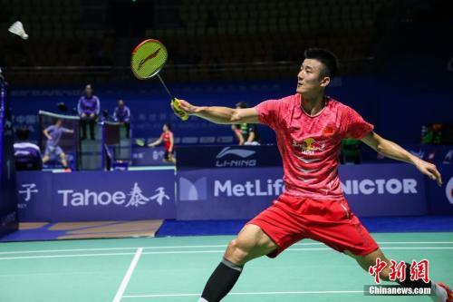 资料图:中国选手谌龙。 李南轩 摄