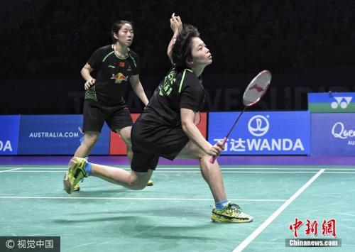 资料图:女双为国羽出赛的是陈清晨、贾一凡。图片来源:视觉中国