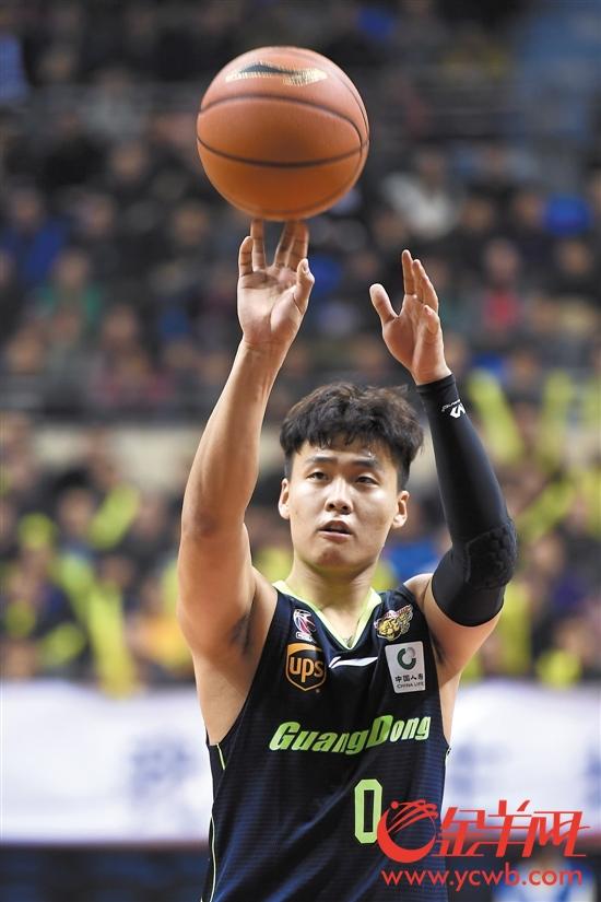赵睿是八强战阶段广东队中表现最稳定的球员之一