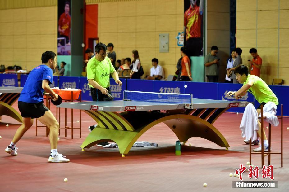 中国男乒厦门备战世界乒乓球团体锦标赛