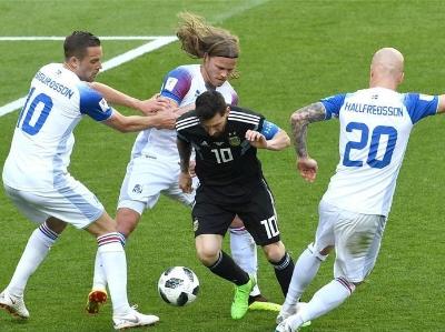 梅西遗憾失点 阿根廷队首战1-1战平冰岛