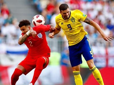 马奎尔阿里头球建功 英格兰2:0瑞典晋级四强