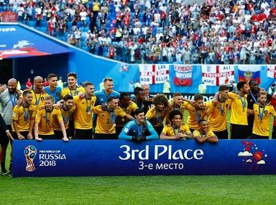 """""""欧洲红魔""""创造历史 比利时2:0英格兰获第三名"""