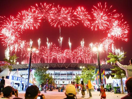 雅加达亚运会开幕烟花