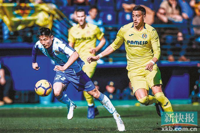 1130天后西甲再现中国球员 武磊替补出场完成首秀