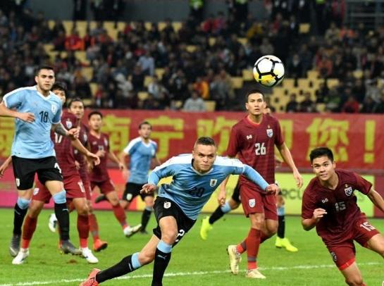 """乌拉圭队4:0战胜泰国队夺""""中国杯""""冠军"""