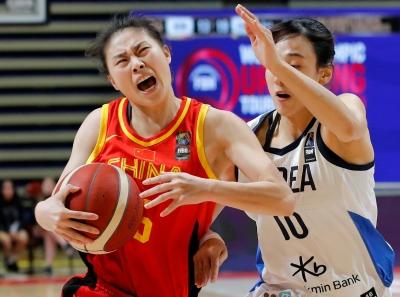 篮球   东京奥运会女篮资格赛:中国队胜韩国队取得三连胜
